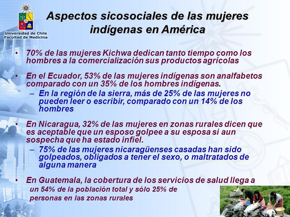 Aspectos sicosociales de las mujeres indígenas en América