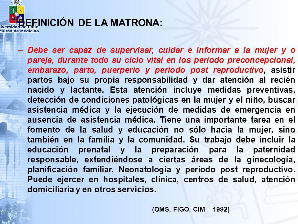 DEFINICIÓN DE LA MATRONA: