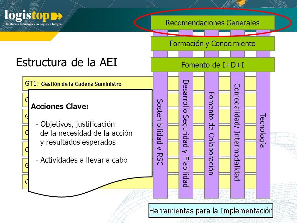 Estructura de la AEI Recomendaciones Generales