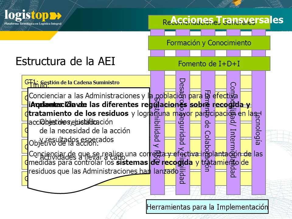 Estructura de la AEI Acciones Transversales Recomendaciones Generales