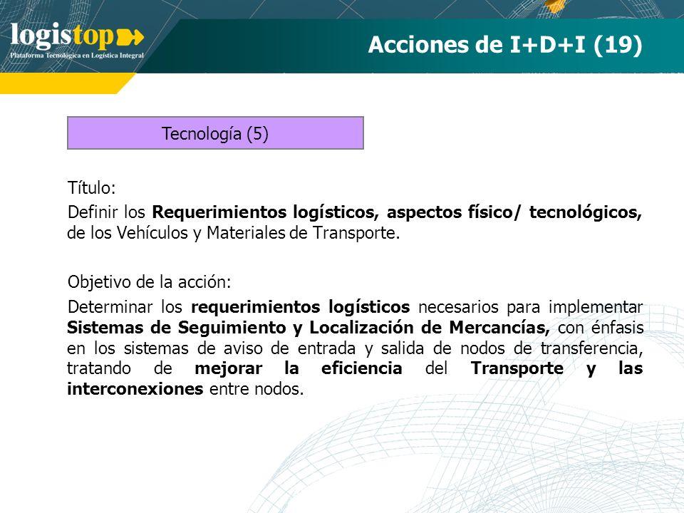 Acciones de I+D+I (19) Tecnología (5) Título: