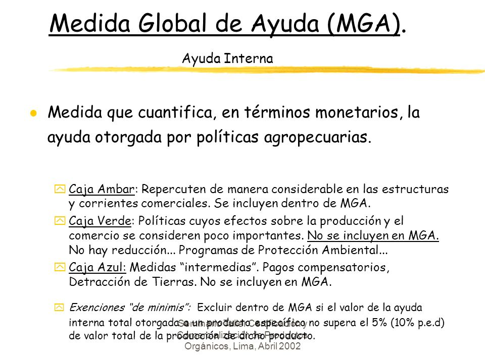 Medida Global de Ayuda (MGA). Ayuda Interna