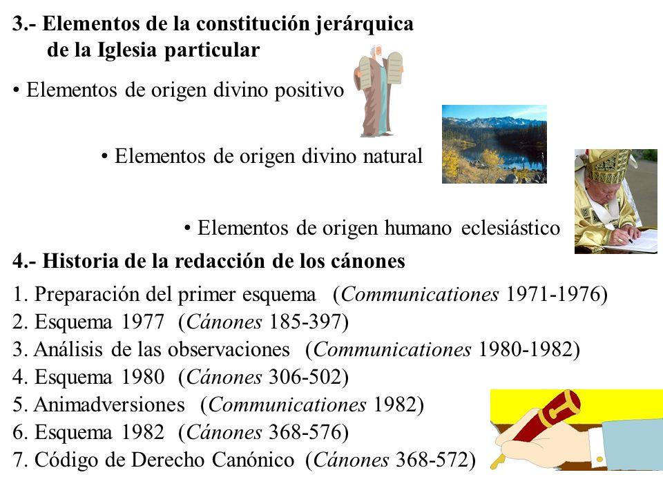 3.- Elementos de la constitución jerárquica de la Iglesia particular