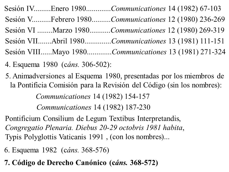 Sesión IV.........Enero 1980.............Communicationes 14 (1982) 67-103