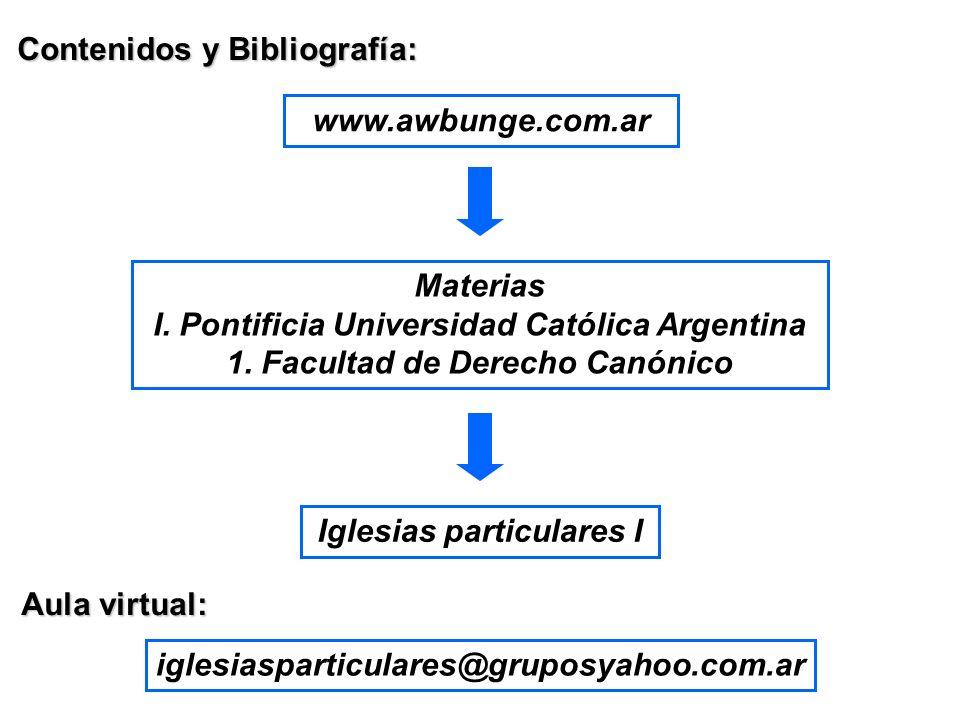 Contenidos y Bibliografía: