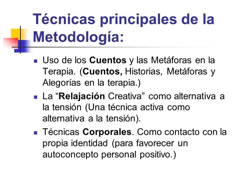 Técnicas principales de la Metodología: