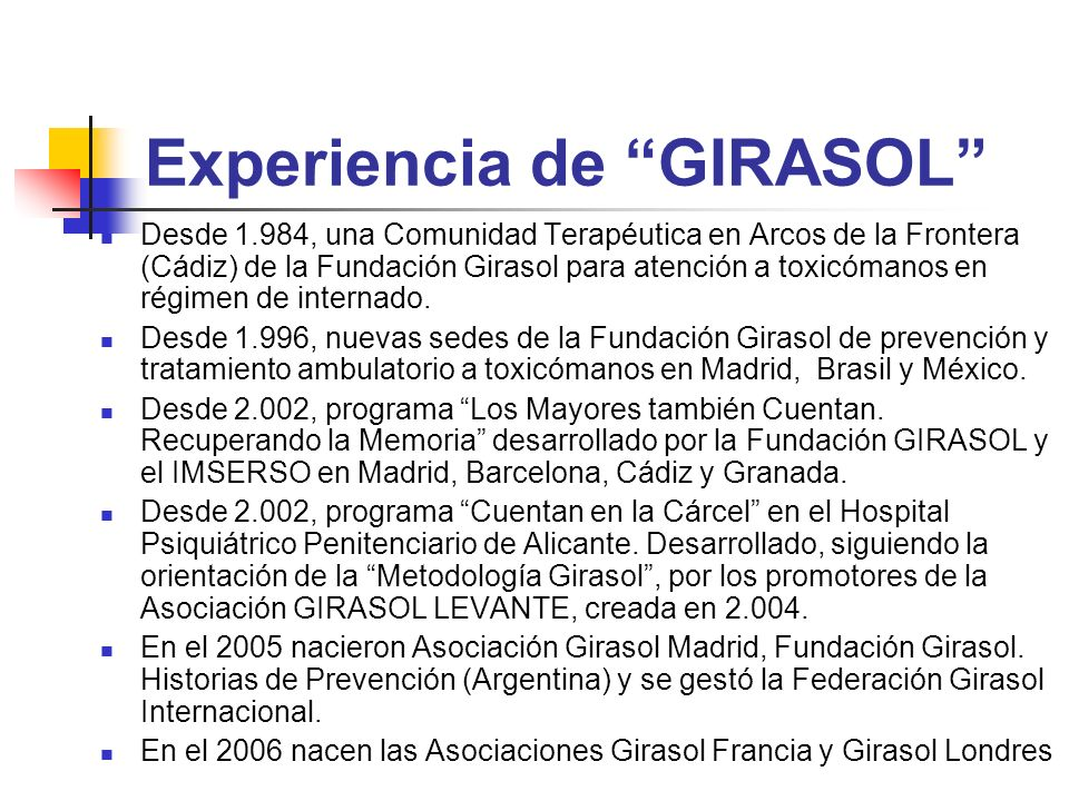 Experiencia de GIRASOL