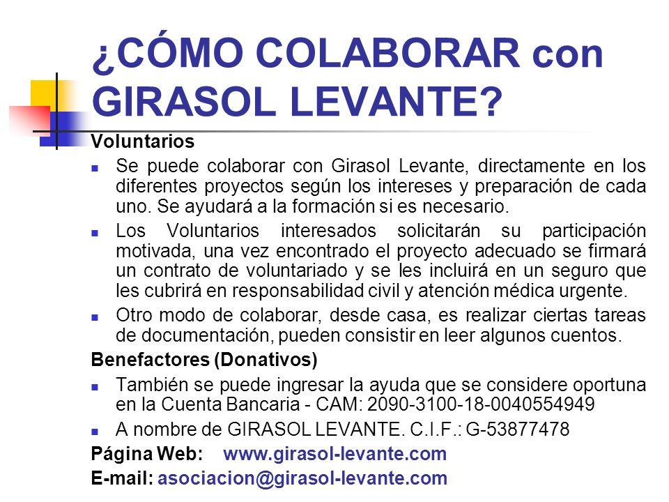¿CÓMO COLABORAR con GIRASOL LEVANTE