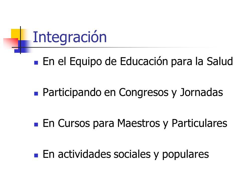 Integración En el Equipo de Educación para la Salud