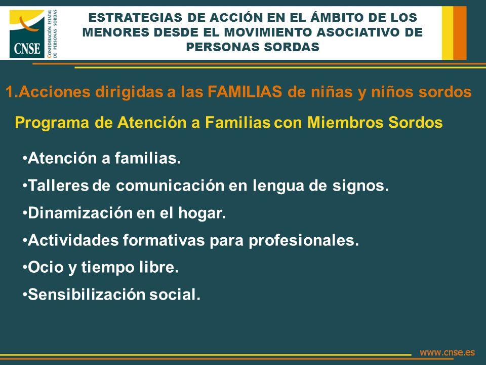 Acciones dirigidas a las FAMILIAS de niñas y niños sordos