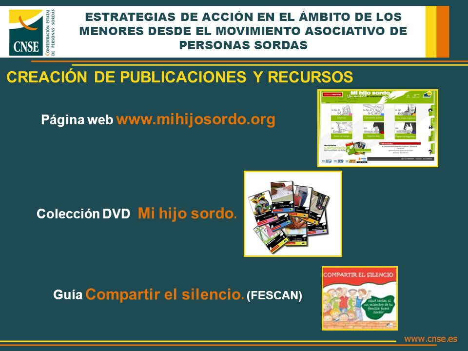 CREACIÓN DE PUBLICACIONES Y RECURSOS