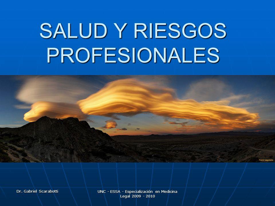 SALUD Y RIESGOS PROFESIONALES