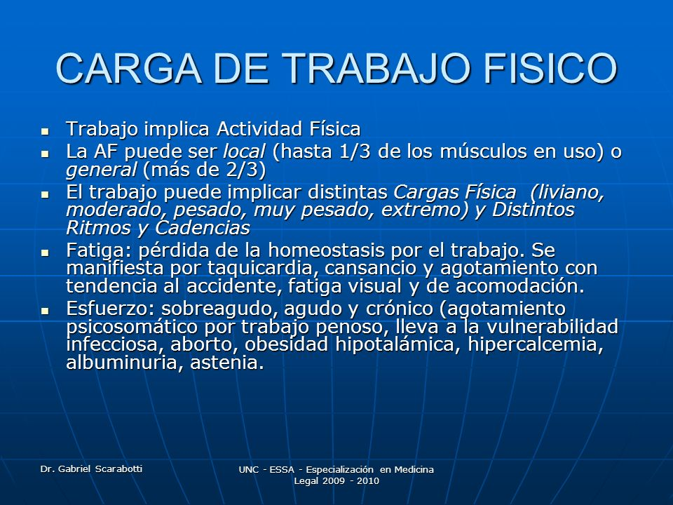 CARGA DE TRABAJO FISICO