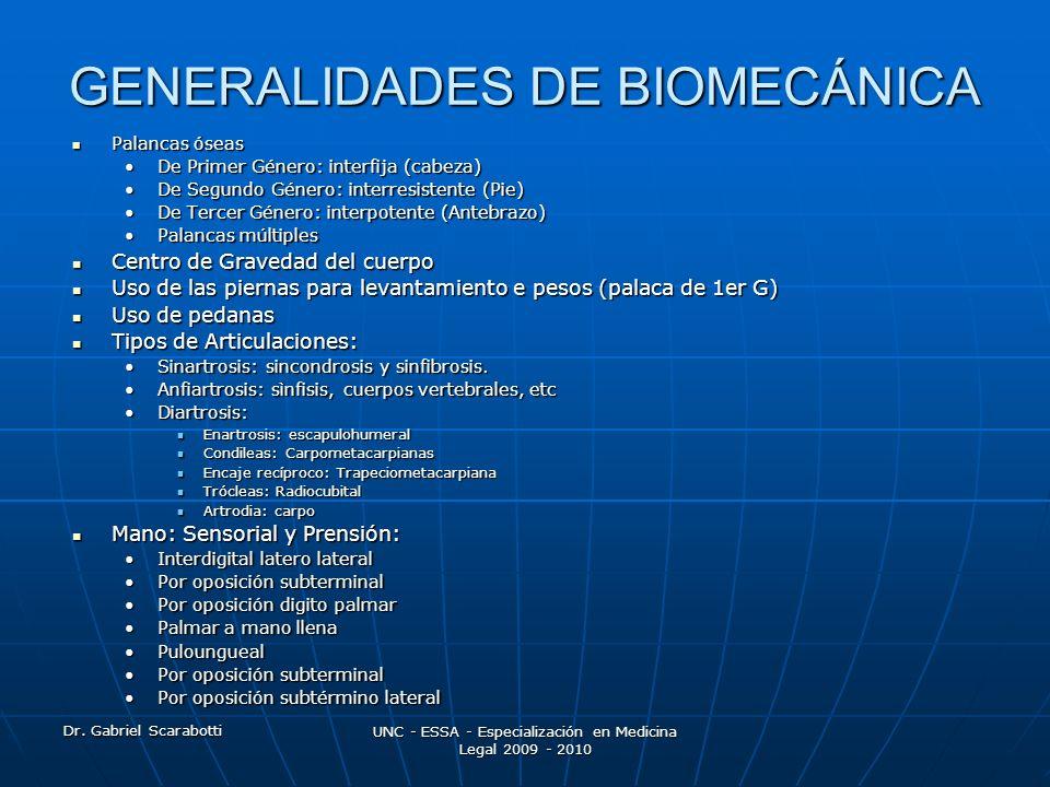 GENERALIDADES DE BIOMECÁNICA