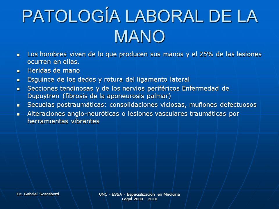 PATOLOGÍA LABORAL DE LA MANO