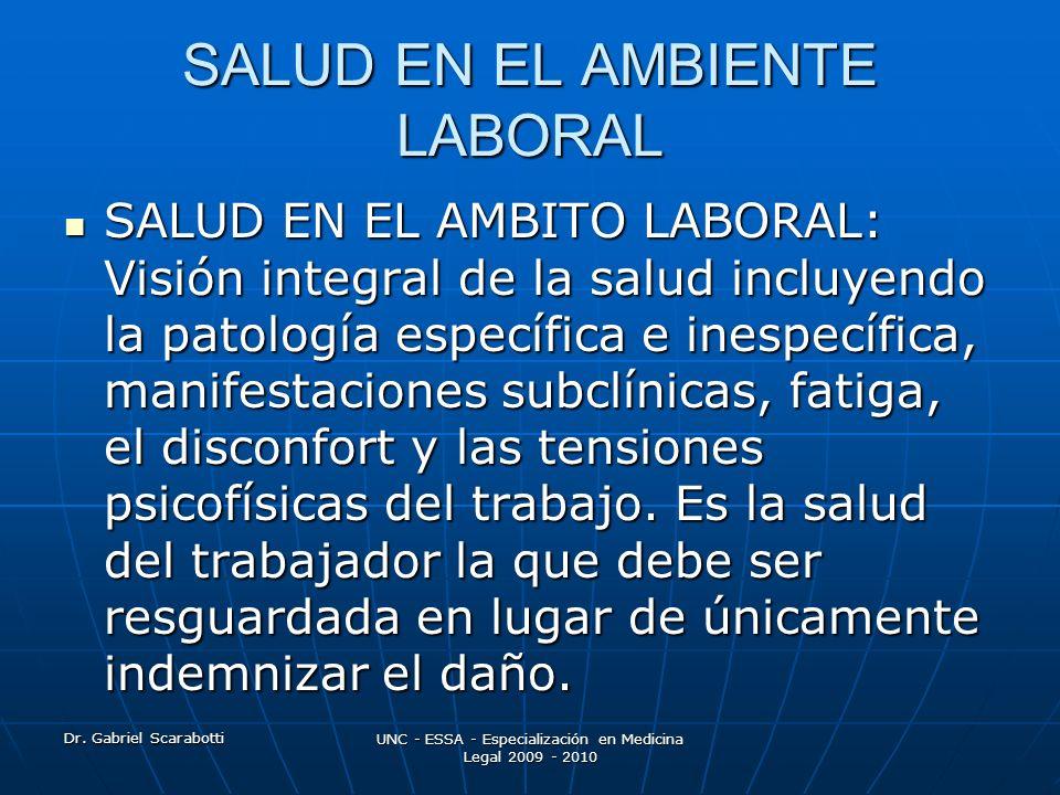 SALUD EN EL AMBIENTE LABORAL