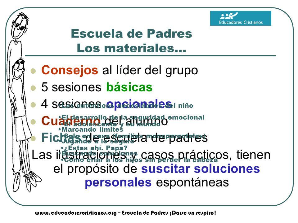Escuela de Padres Los materiales…