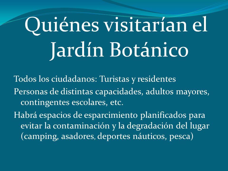 Quiénes visitarían el Jardín Botánico