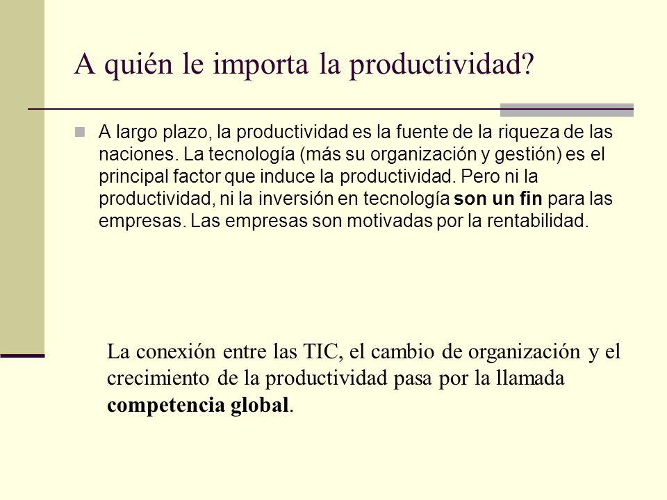 A quién le importa la productividad