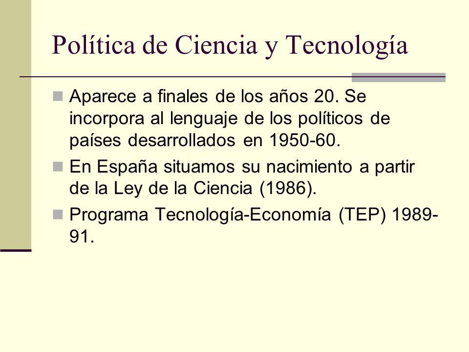 Política de Ciencia y Tecnología