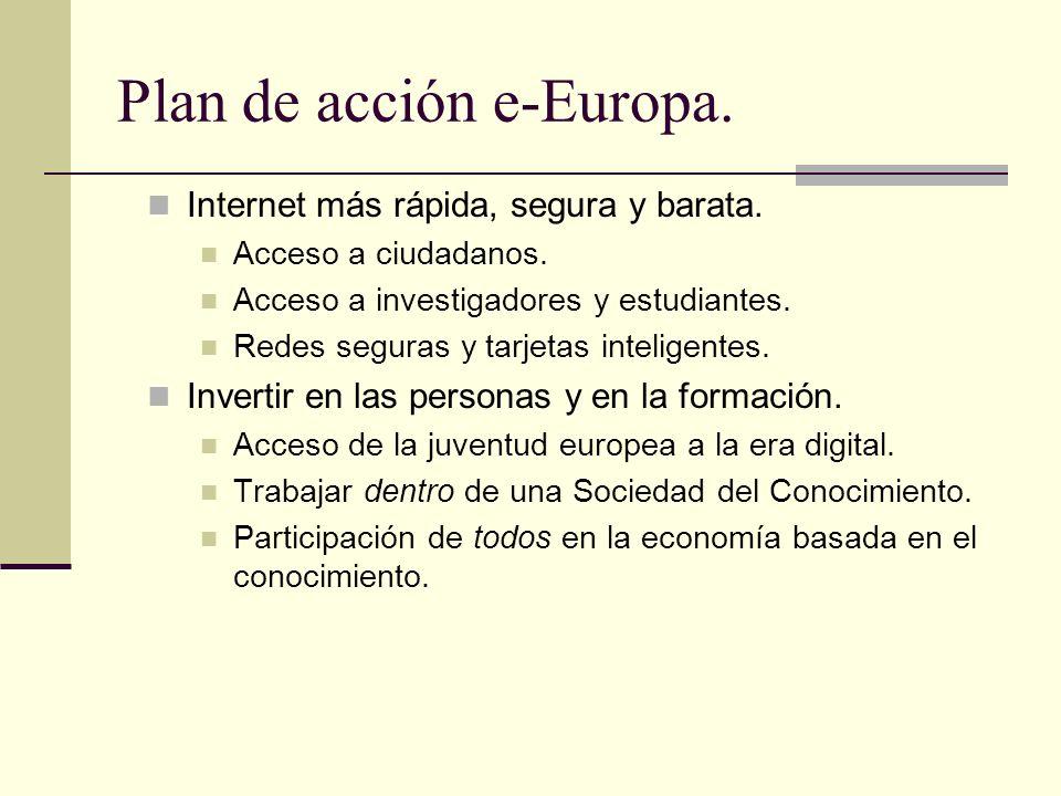 Plan de acción e-Europa.