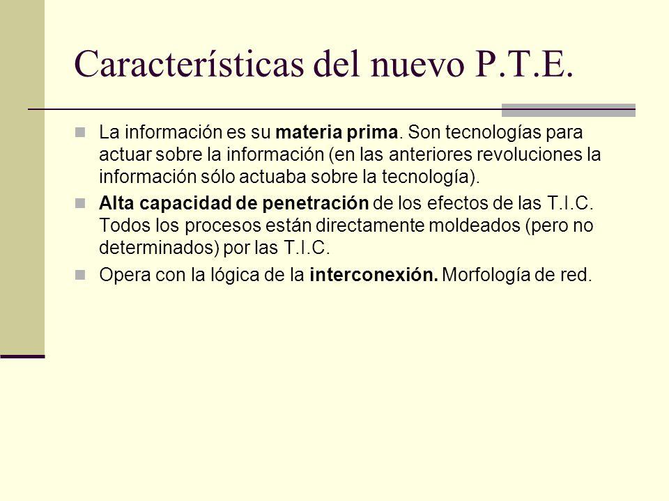 Características del nuevo P.T.E.