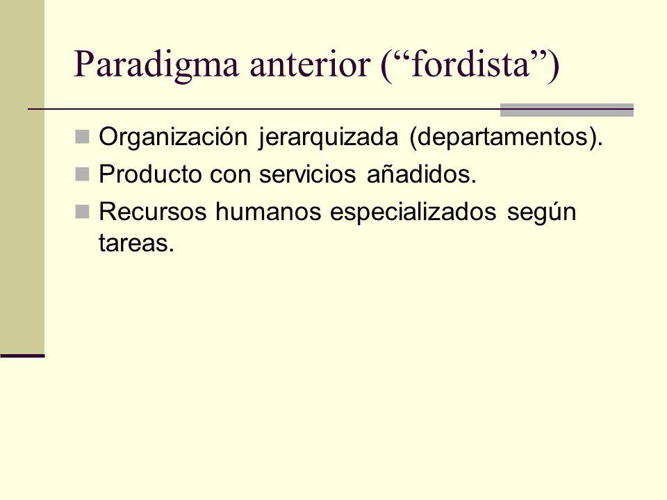 Paradigma anterior ( fordista )