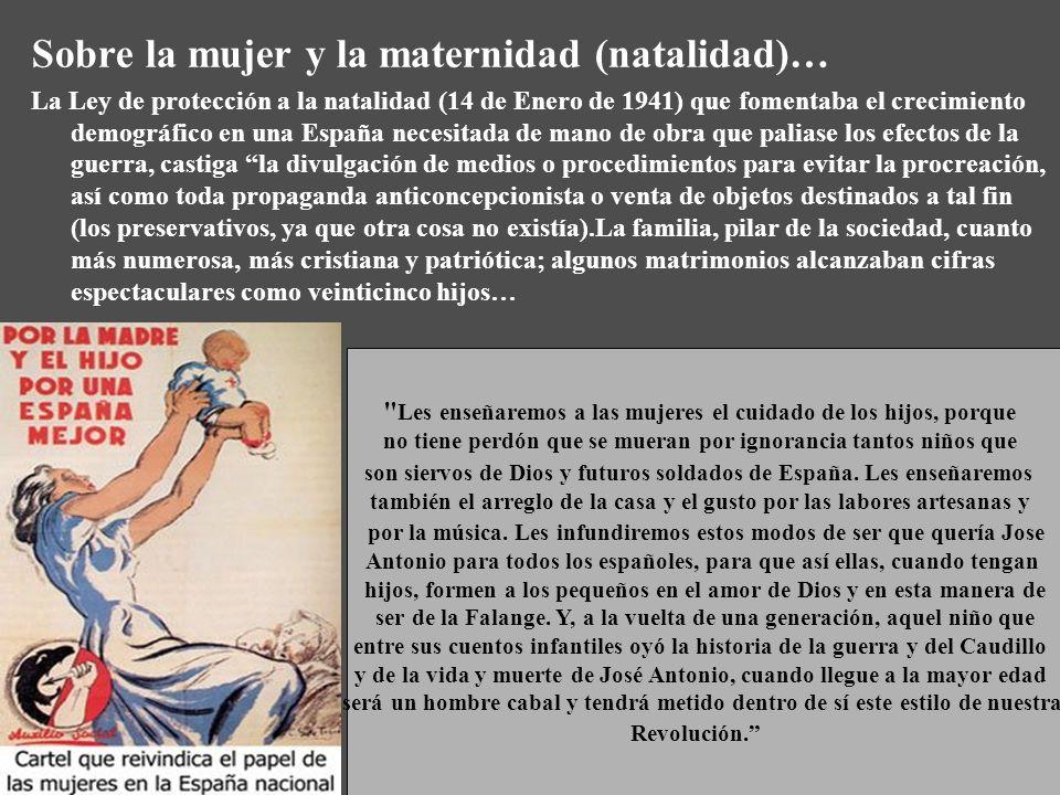 Sobre la mujer y la maternidad (natalidad)…