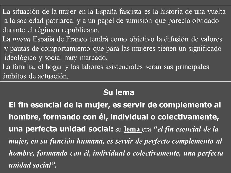 La situación de la mujer en la España fascista es la historia de una vuelta