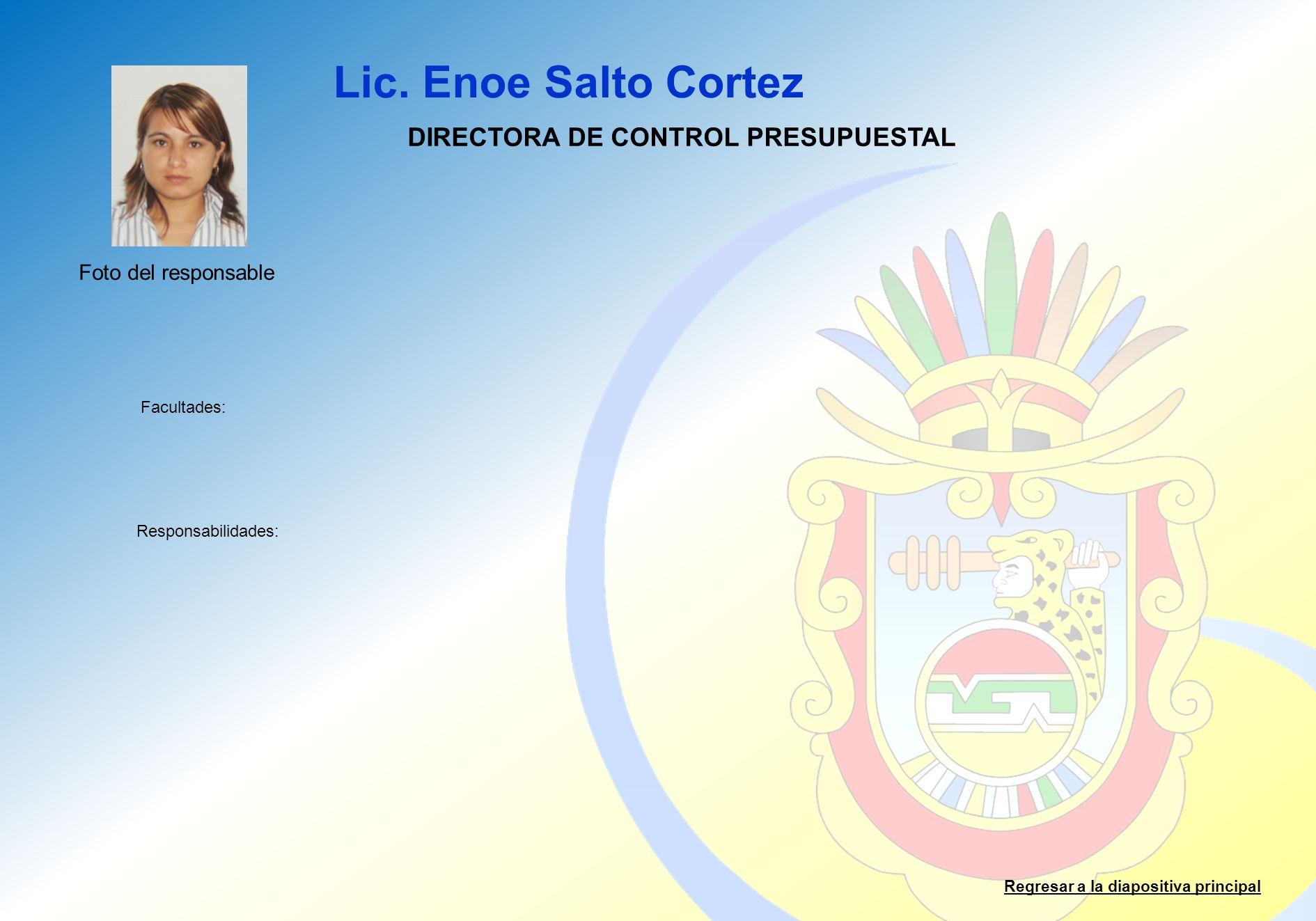 DIRECTORA DE CONTROL PRESUPUESTAL