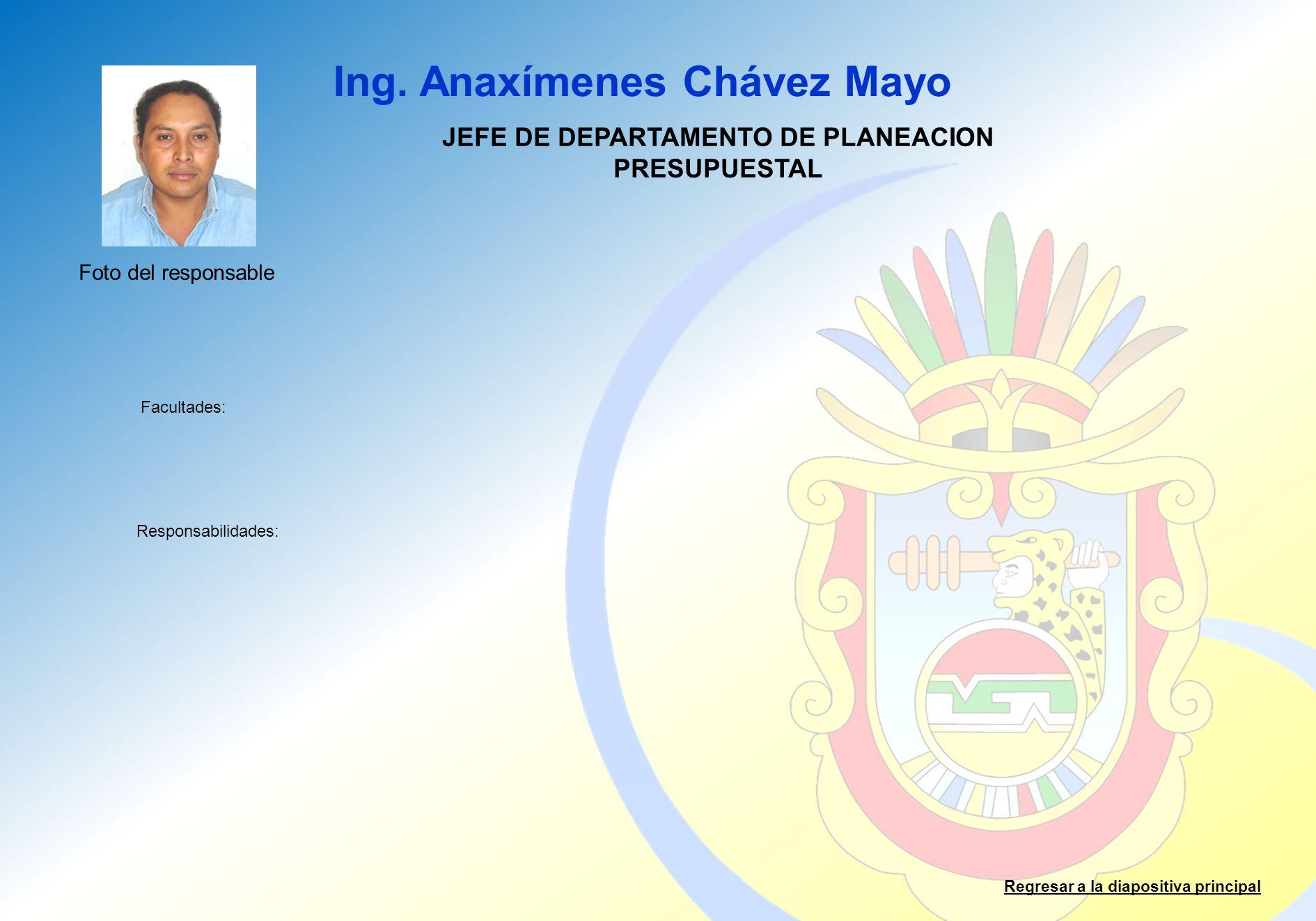 JEFE DE DEPARTAMENTO DE PLANEACION PRESUPUESTAL