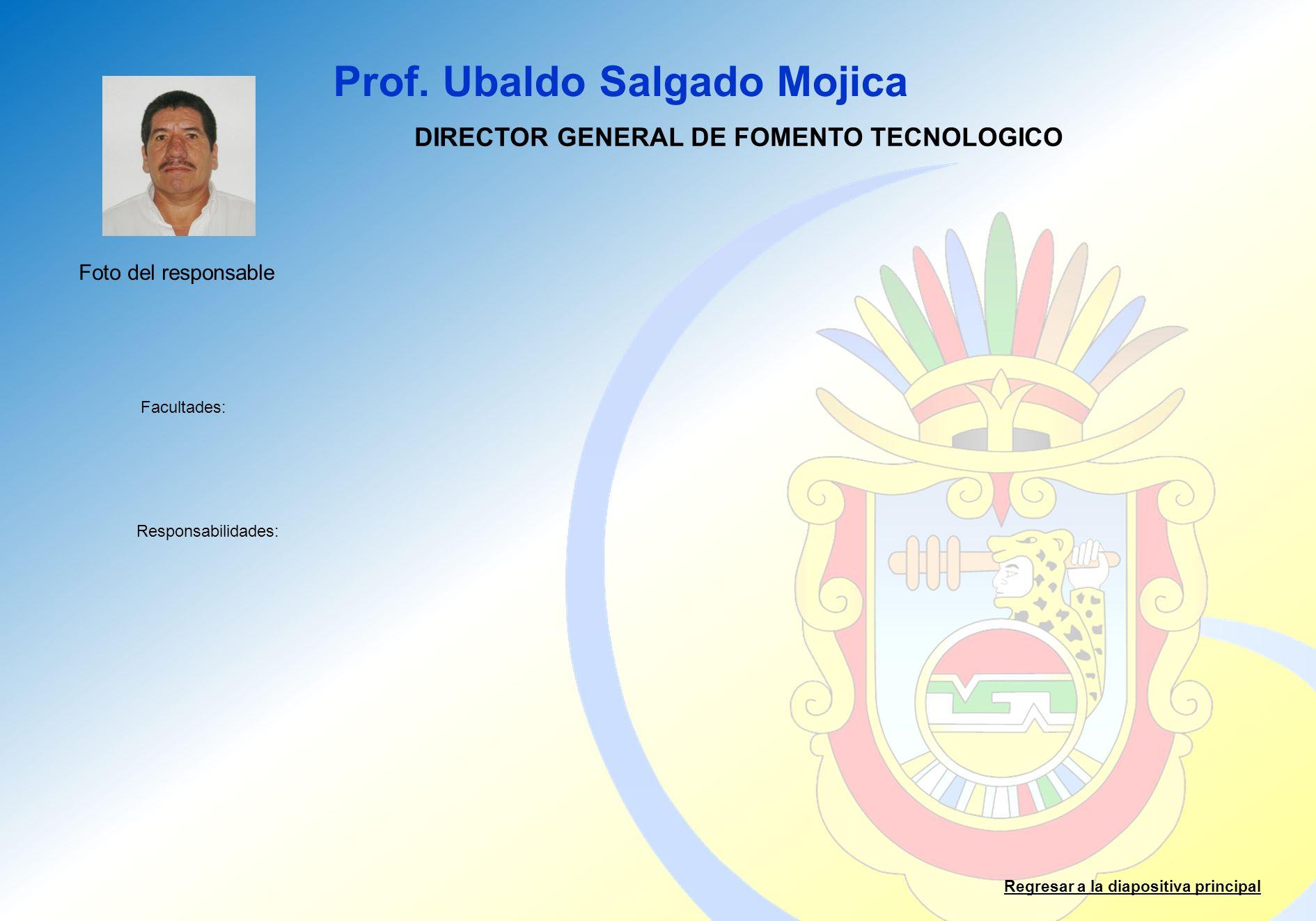 DIRECTOR GENERAL DE FOMENTO TECNOLOGICO