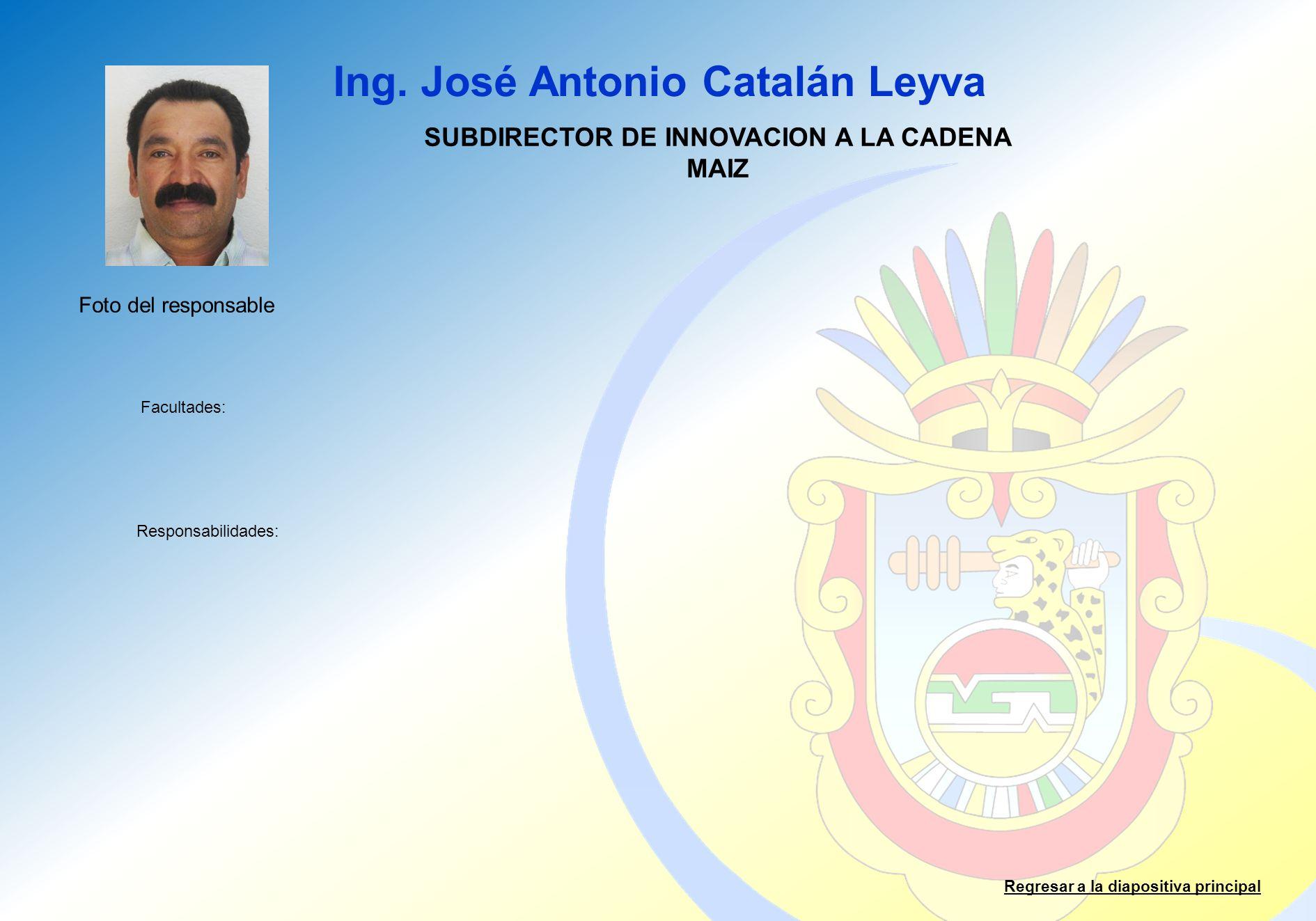 SUBDIRECTOR DE INNOVACION A LA CADENA MAIZ