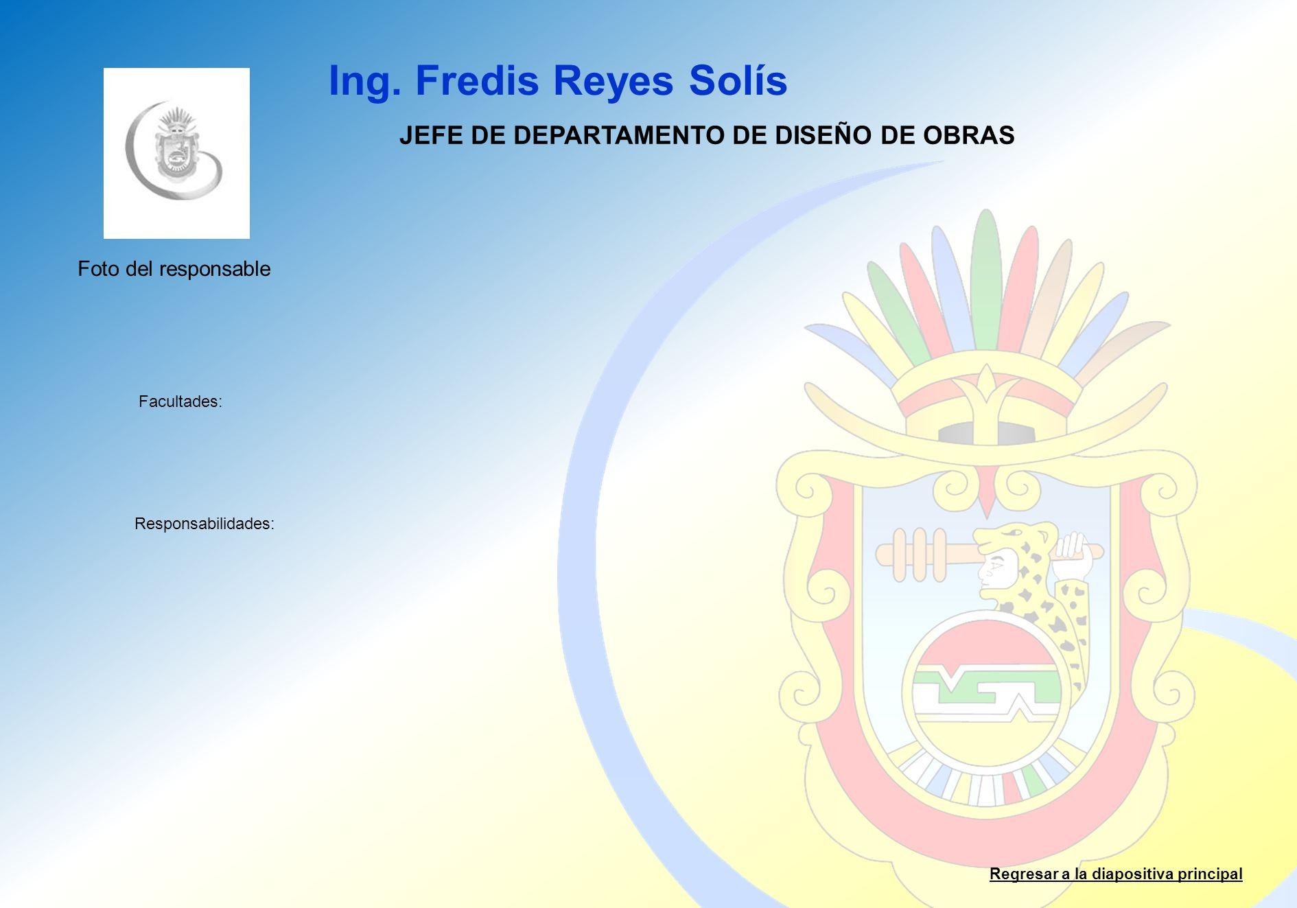 JEFE DE DEPARTAMENTO DE DISEÑO DE OBRAS
