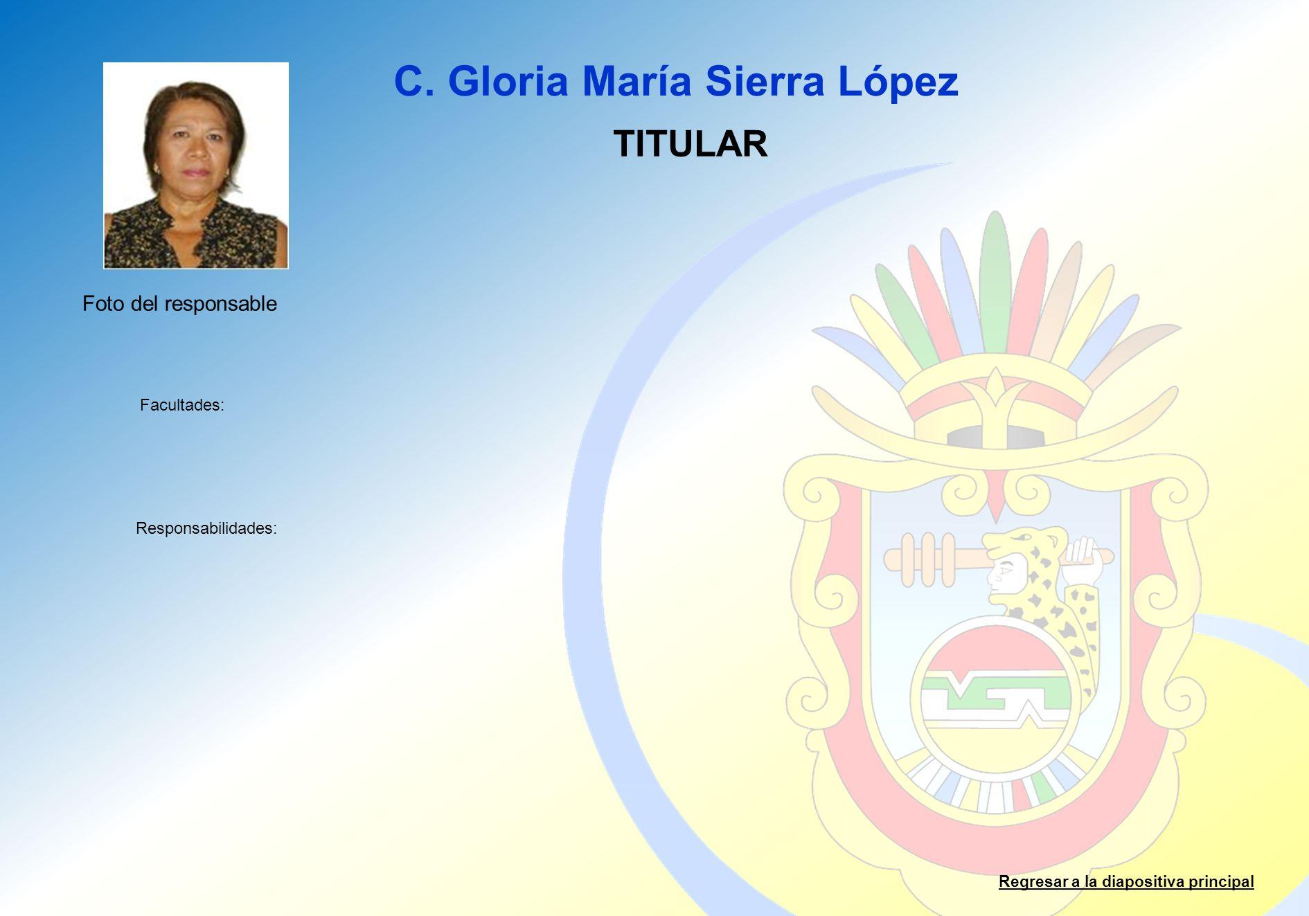 C. Gloria María Sierra López