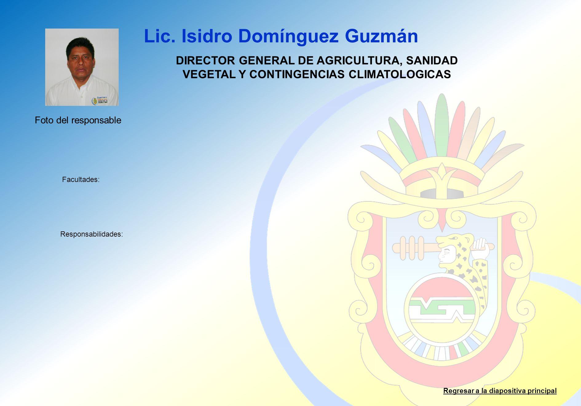 Lic. Isidro Domínguez Guzmán