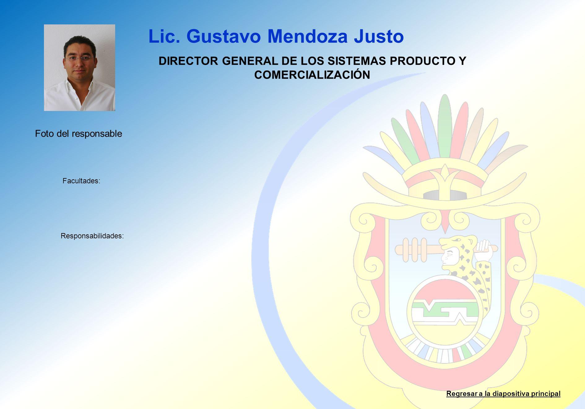 DIRECTOR GENERAL DE LOS SISTEMAS PRODUCTO Y COMERCIALIZACIÓN