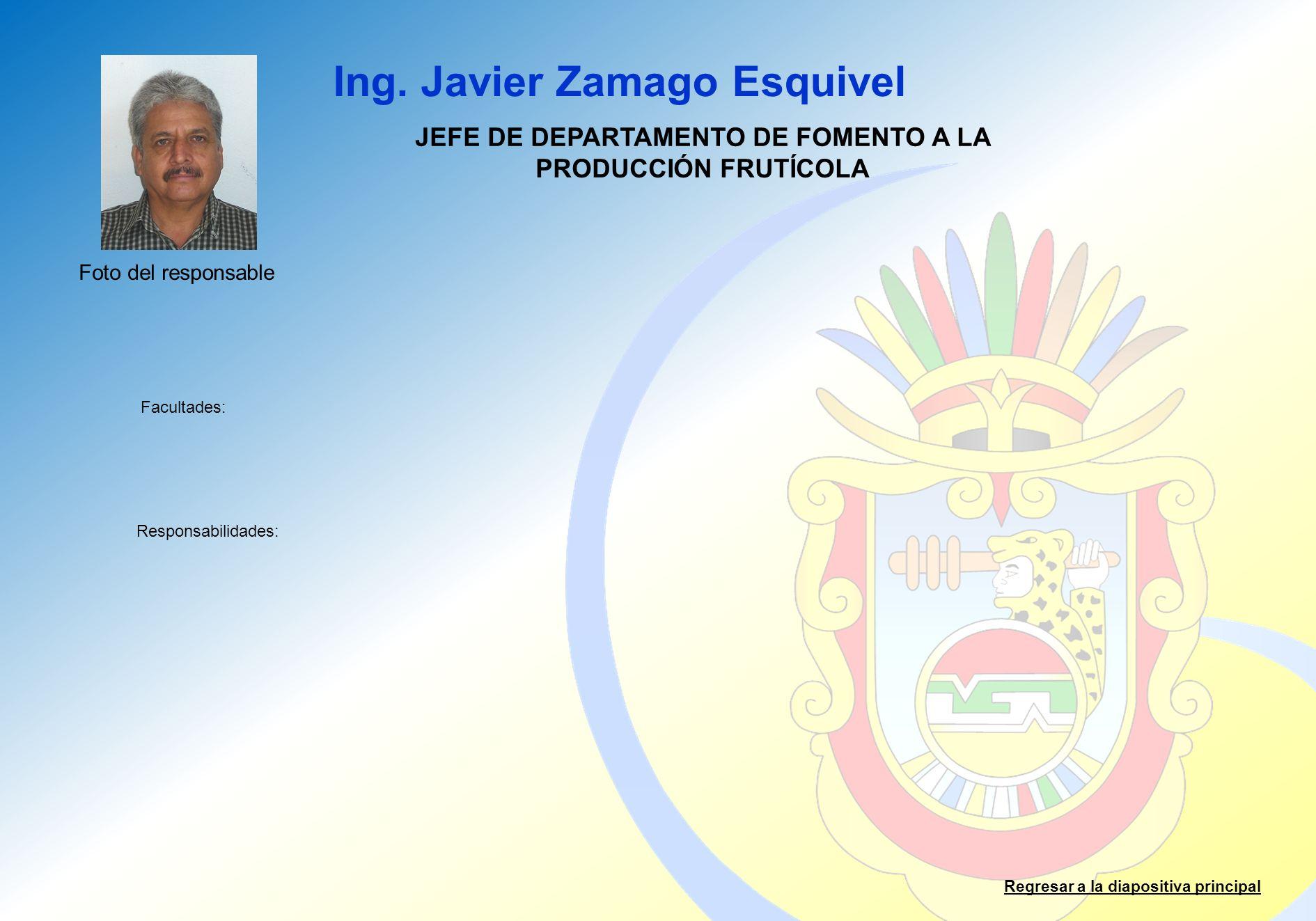 JEFE DE DEPARTAMENTO DE FOMENTO A LA PRODUCCIÓN FRUTÍCOLA