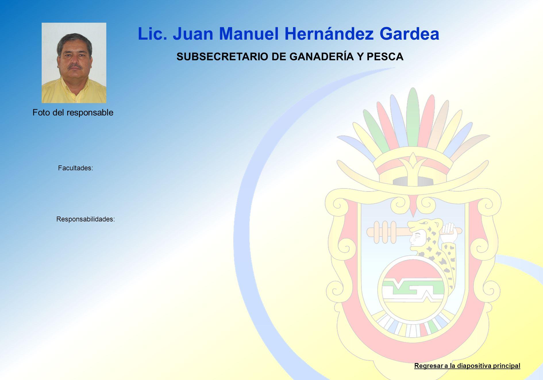 SUBSECRETARIO DE GANADERÍA Y PESCA