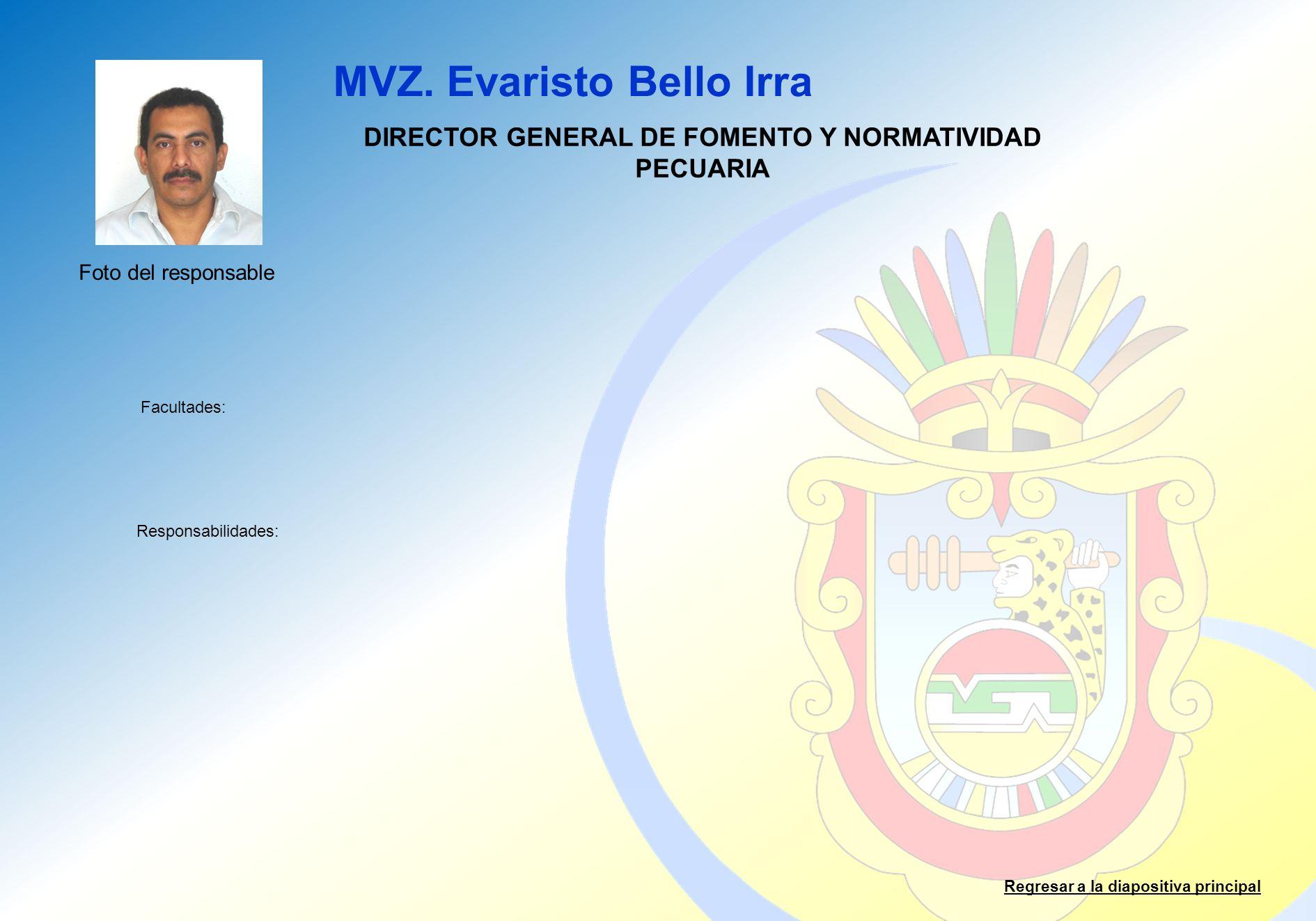DIRECTOR GENERAL DE FOMENTO Y NORMATIVIDAD PECUARIA