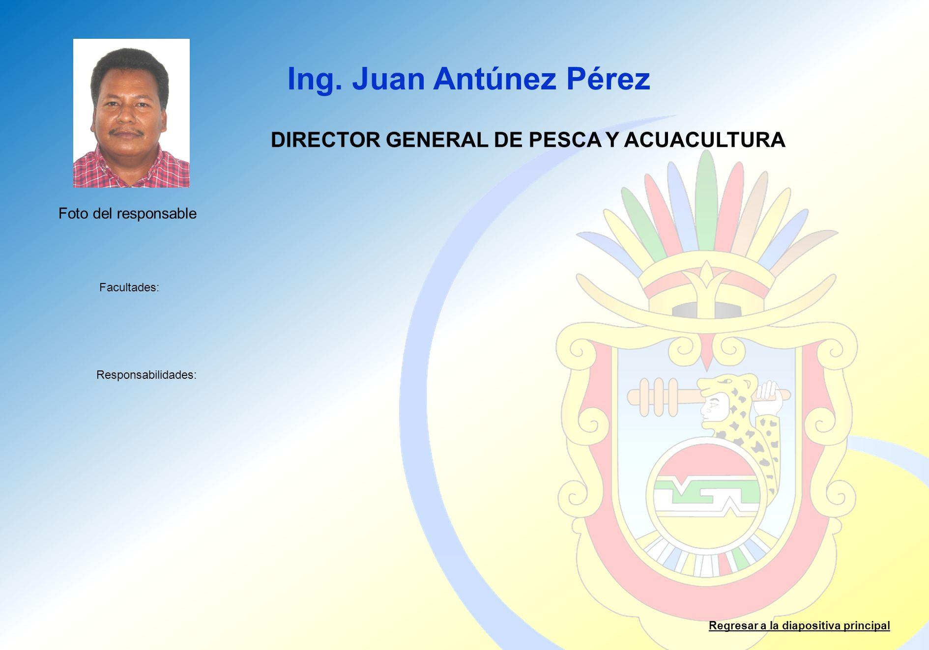 DIRECTOR GENERAL DE PESCA Y ACUACULTURA