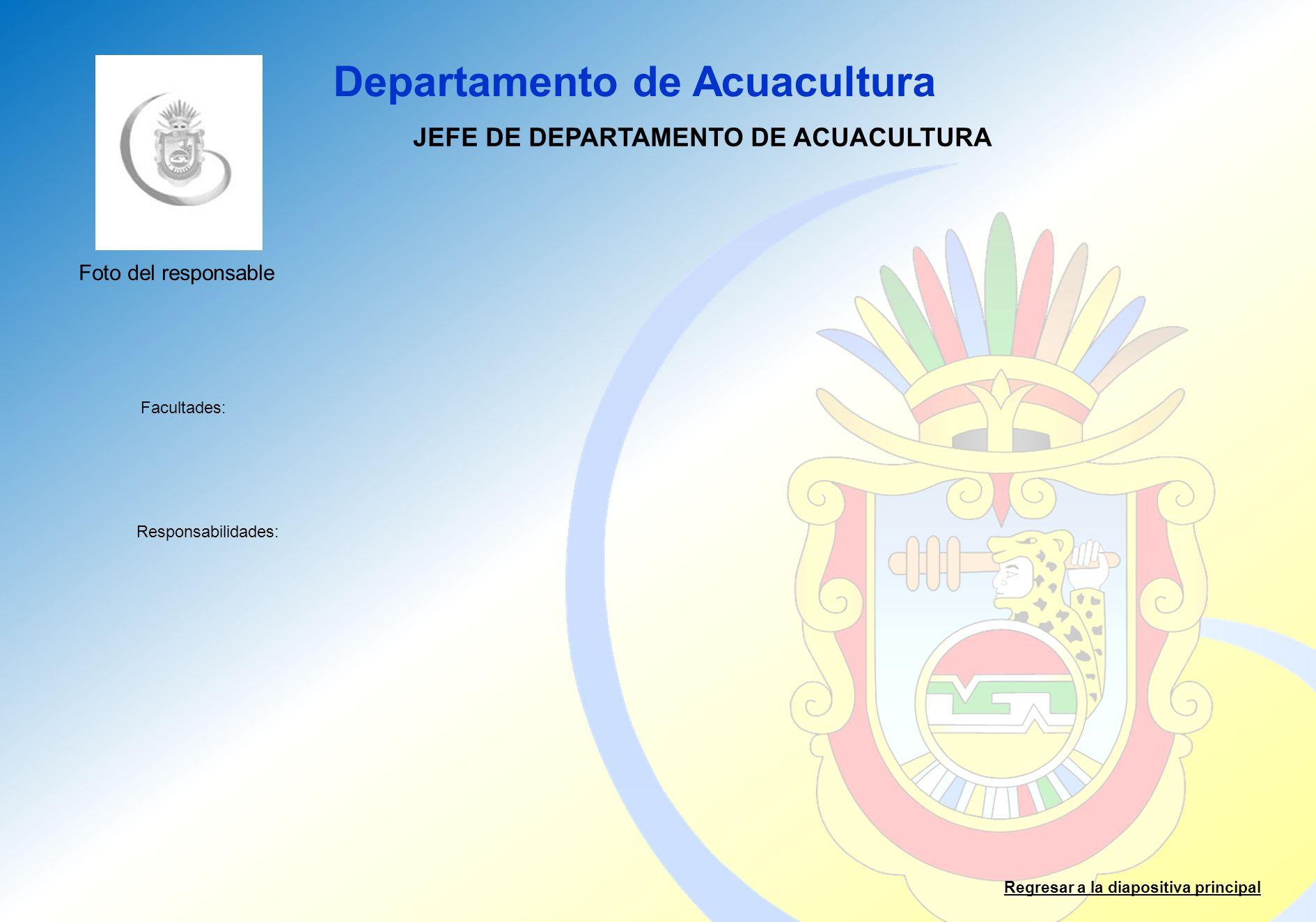 JEFE DE DEPARTAMENTO DE ACUACULTURA