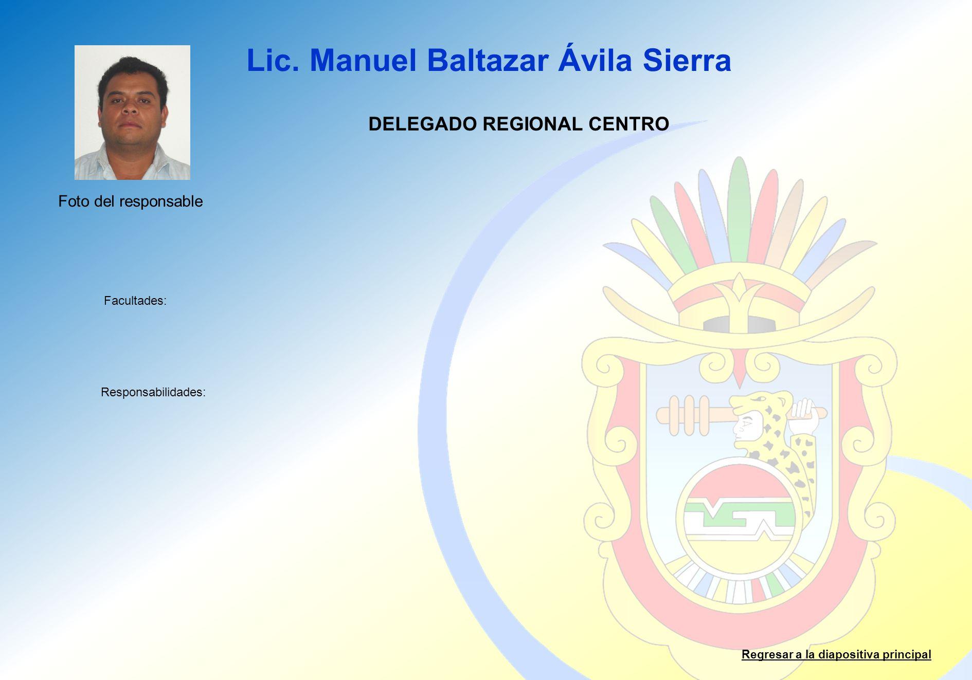 DELEGADO REGIONAL CENTRO