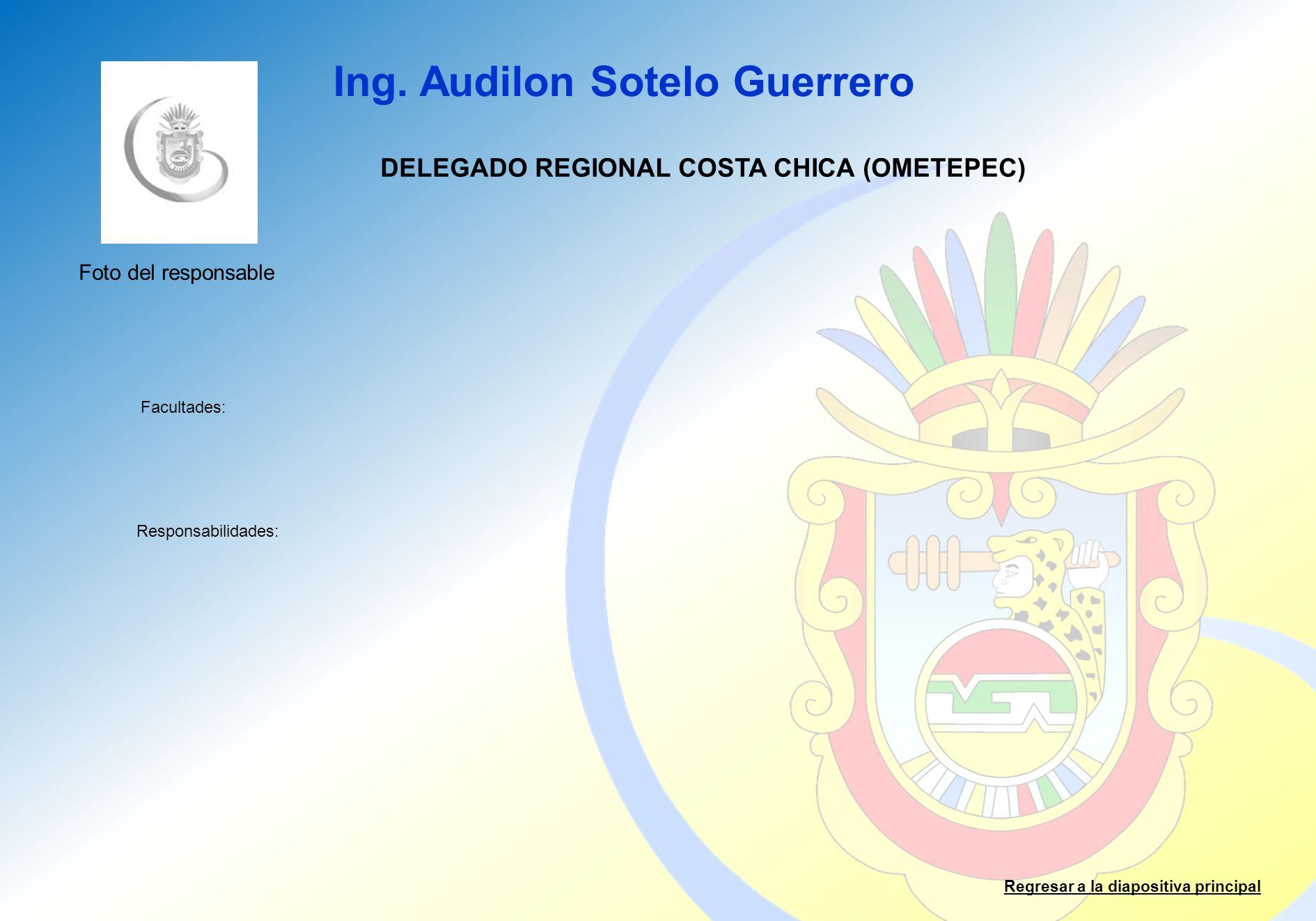 DELEGADO REGIONAL COSTA CHICA (OMETEPEC)