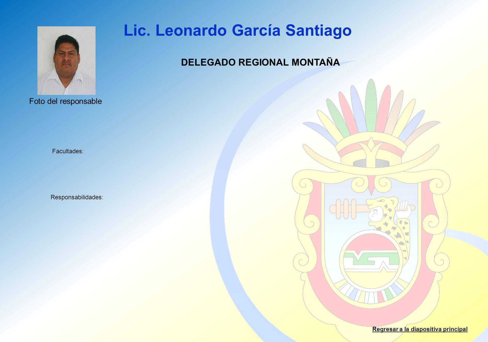 DELEGADO REGIONAL MONTAÑA
