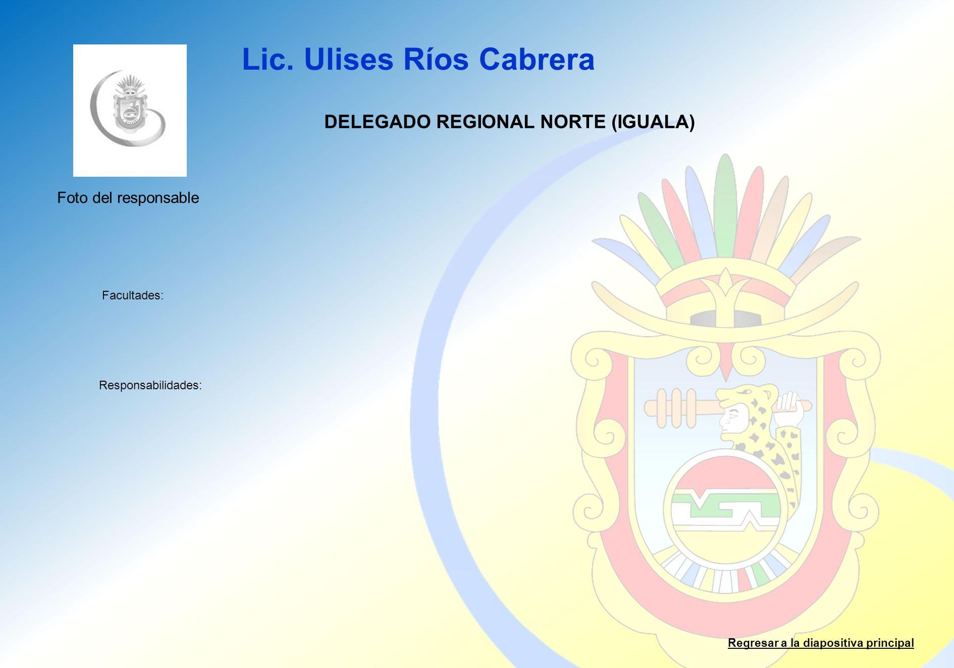 DELEGADO REGIONAL NORTE (IGUALA)