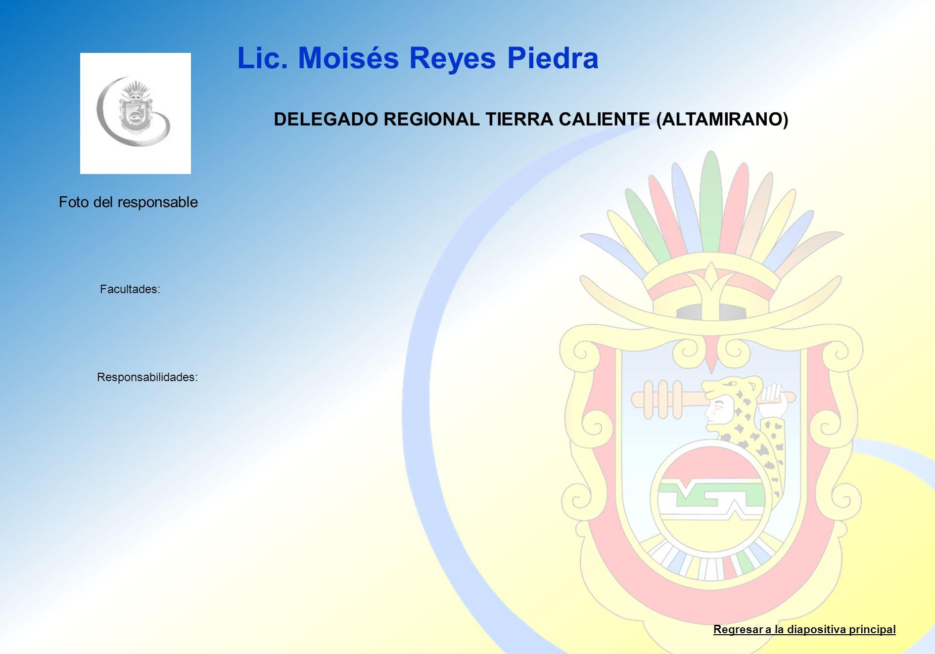 DELEGADO REGIONAL TIERRA CALIENTE (ALTAMIRANO)