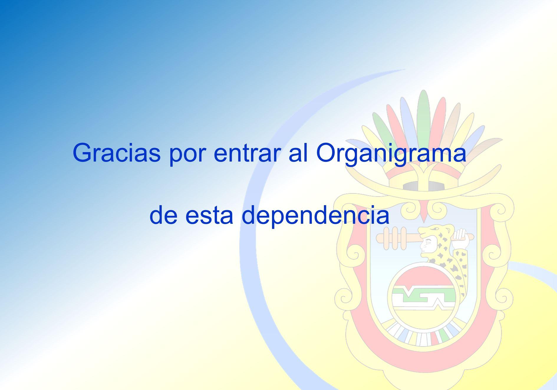 Gracias por entrar al Organigrama