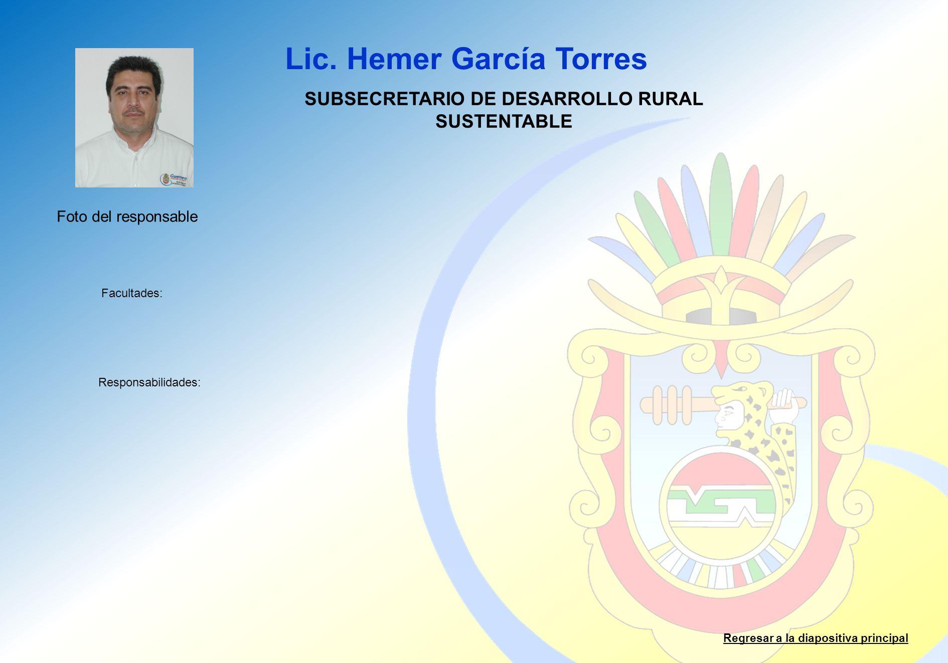 SUBSECRETARIO DE DESARROLLO RURAL SUSTENTABLE