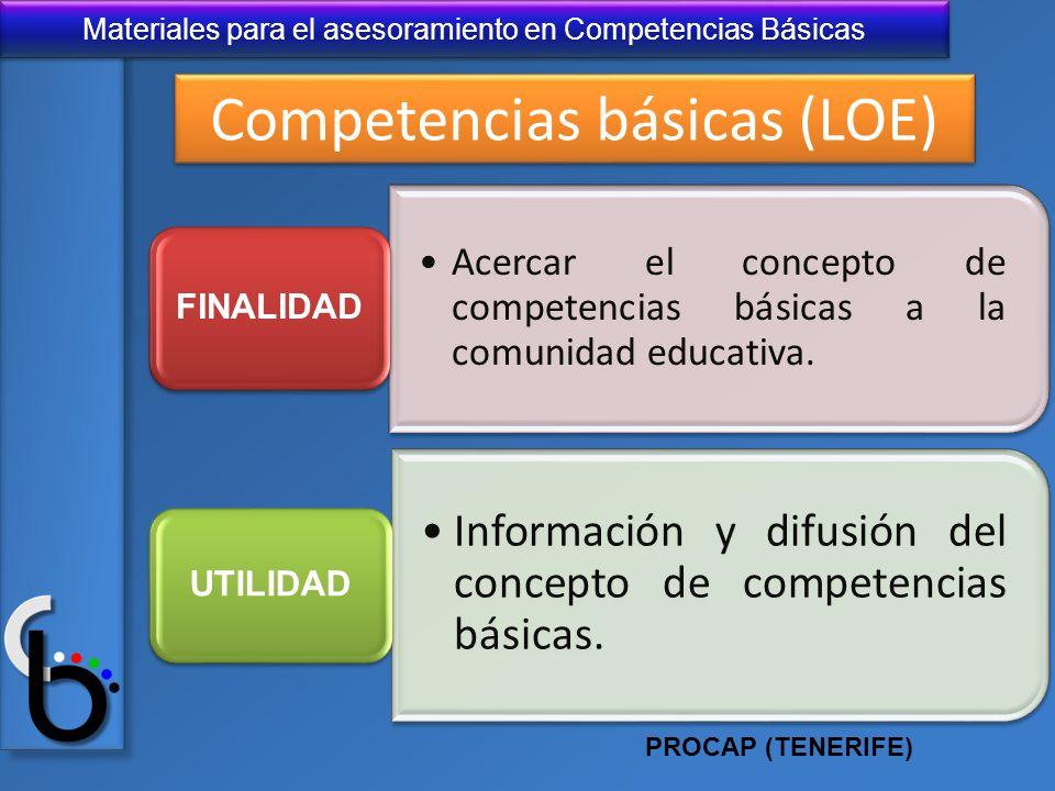 Competencias básicas (LOE)